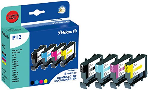 Pelikan 361400 - Cartucho de Tinta Brother MFC-240C - LC1000 - Pack (Colores + Negro)