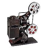 LUCKFY Proyector de películas de Cine Modelo - Vintage del Estilo del Metal del proyector Modelo - Crafts Escritorio Figura Apoyos para el hogar Decoración de Escritorio del Ornamento Regalo