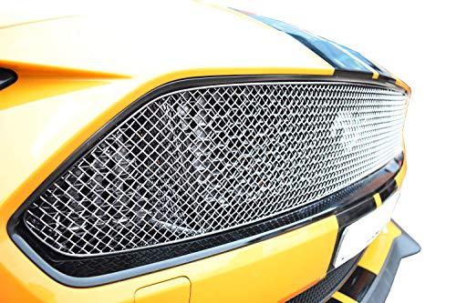 Zunsport Kompatibel mit Ford Mustang GT Facelift - oberer Grill, silbern (2018 -)