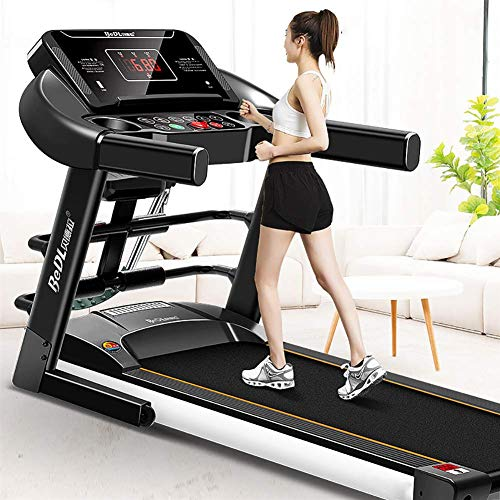 Cinta de correr mec/ánica equipo de ejercicio para p/érdida de peso para el hogar funci/ón plegable hasta 150 kg cintas de correr para el hogar soporte para tableta QMMYA
