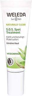WELEDA Naturally Clear S.O.S Spot Treatment, Naturkosmetik zur Behandlung von Pickeln und Mitessern, Pickelcreme speziell für unreine Haut, kühlt und beruhigt sofort 1 x 10 ml