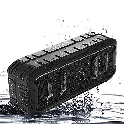 Zoweetek 20W Loud Outdoor Portable Bluetooth Speaker with 24-Hour Playtime, TWS, Dual-Driver, Low Harmonic Distortion, Deep Bass, TF Card Slot, Waterproof from zoweetek