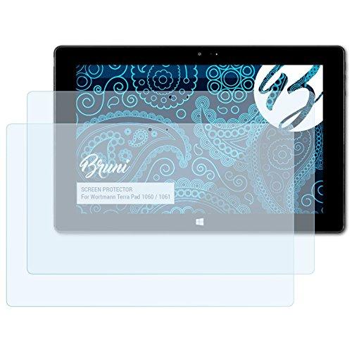Bruni Schutzfolie kompatibel mit Wortmann Terra Pad 1060/1061 Folie, glasklare Displayschutzfolie (2X)