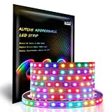ALITOVE WS2812B Individually Addressable LED Strip Light 5050 RGB 16.4ft...