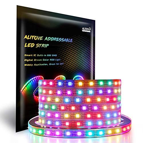 Alitove WS2812B Addressable LED Strip Light 16.4ft