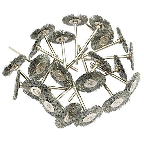 cnmade cepillo de rueda de alambre de acero pulido Copa cepillos abrasivos para Dremel esmeriladora herramientas rotatorias 2,35mm 20pcs