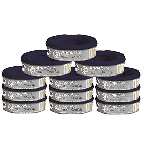 Angelcare Nachfüllkassetten für Windeleimer Dress-Up und Classic XL 12 Stück