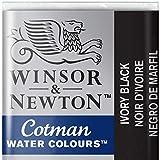 Winsor & Newton Cotman Acuarela En Pastilla, Negro De Marfil, 1,9x1,6x1,1 cm
