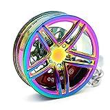 VmG-Store Llavero de llanta de metal, diseño 109 para llaves (Rainbow)