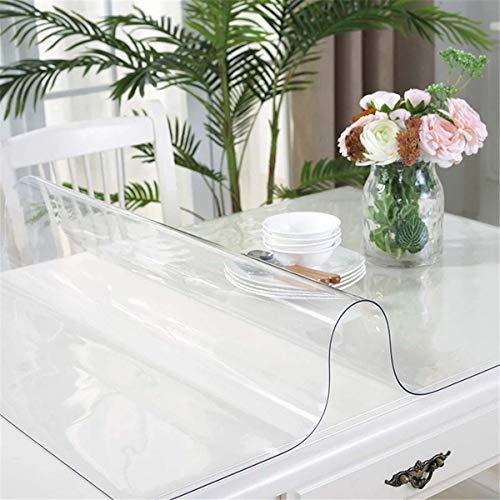 Doorzichtige plastic transparante tafelkleedbeschermer, heavy duty 100% waterdicht PVC tafelkleed rechthoekig voor keuken eetkamer boerderij tafelblad decoratie,90X140CM/35X55Inch