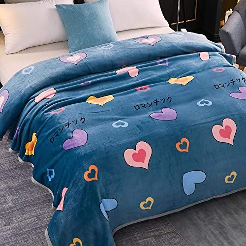 Asbecky Mantas Sofa De Pelo Manta de Lana de Franela Manta de Cama cálida Suave y acogedora para sofá Manta de Microfibra Multiusos-El 150x200cm_re