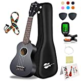 Soprano Ukulele Beginner Kit - 21 Inch w/How to play Songbook Carrying bag