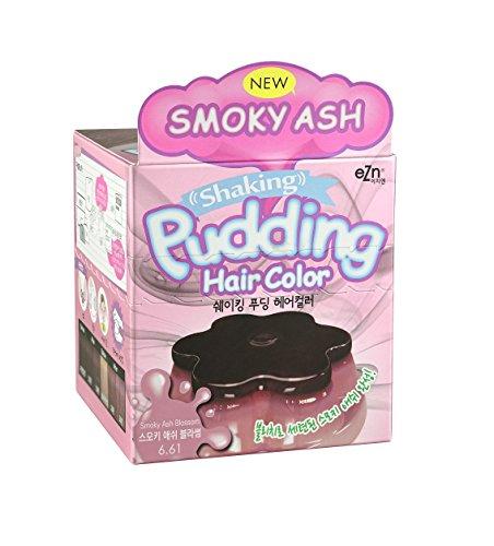 EZN Pudding Hair Dye Smoky Ash Blossom Hair Color #6.61 Hair Dye DIY Kit Included Korean Beauty