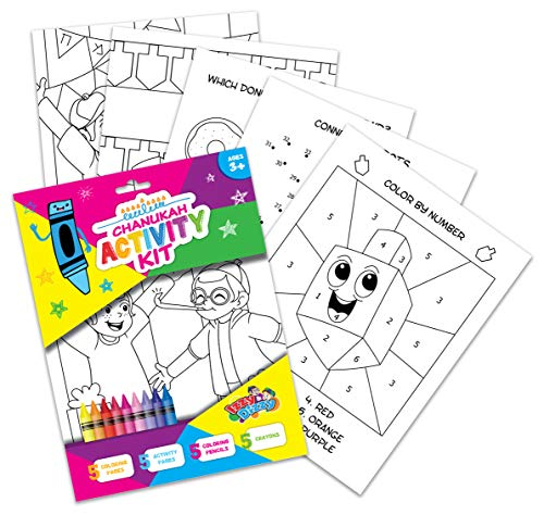 Izzy 'n' Dizzy Hanukkah Coloring and Activity Set - Great for Partys and Gifts- Chanuka Color and Activity Kit
