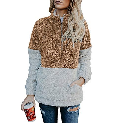 Women's Oversized Ultra Soft Fleece Solid Pullover Hoodie Sweatshirt Brown
