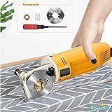 KKTECT Taglierina elettrica rotante per tessuto Mini Macchina da taglio manuale da 2'con lama circo