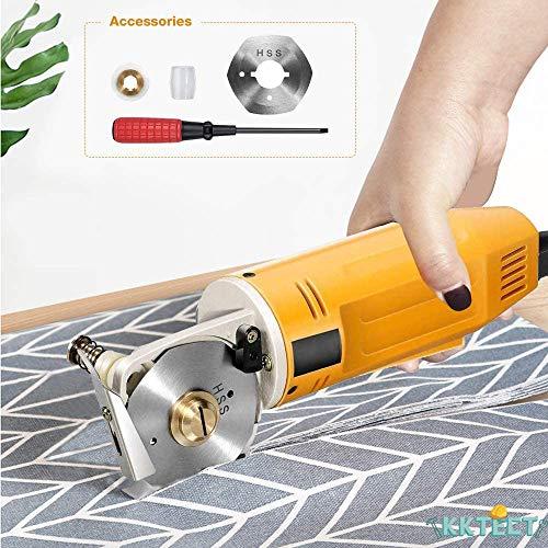 KKTECT Elektrischer Rotationsschneider Mini elektrischer Stoffschneider Handheld 2