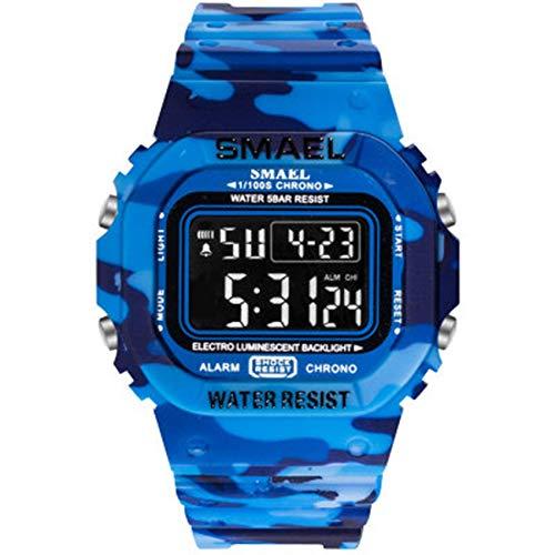 SXXYTCWL Reloj electrónico Digital de los Deportes de los Hombres a Prueba de Agua LED electrónico del Reloj del Deporte jianyou (Color : C)