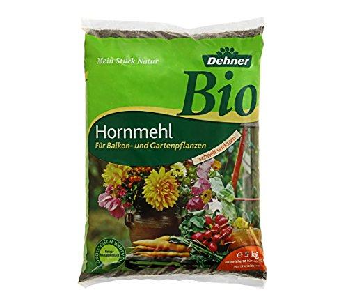 Dehner Bio Dünger, Hornmehl, für Balkon- und Gartenpflanzen, 5 kg, für ca. 50 qm