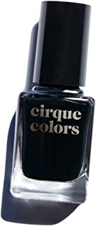 Cirque Colors Creme Nail Polish - Memento Mori - Best Black - 0.37 fl. oz. (11 ml) - Vegan, Cruelty-Free, Non-Toxic Formula