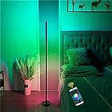 JJDSN Lámpara de pie de Esquina LED, Lámpara de Control de aplicación Minimalista Moderna nórdica Lámpara de pie LED RGB Colorida, Dormitorio Sala de Estar Iluminación del vestíbulo Decoraciones n