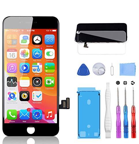 YPLANG LCD Touchscreen für iPhone 8 Display Ersatz Bildschirm, Retina Display mit Werkzeuge Front Komplettes Glas für iPhone 8 4.7 Zoll MEHRWEG(Schwarz)