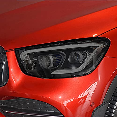 YYHHADM Car Headlight Protective Film Taillight Smoked Black Tint Wrap Vinyl TPU Sticker,for Mercedes Benz GLC Class C253 X253 2020 2021