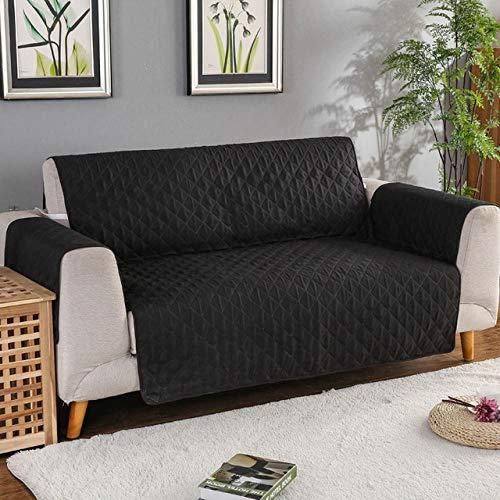 funda de sofá premium impermeable,Funda para sofá, alfombrilla para perros y niños, protector de muebles, fundas para reposabrazos extraíbles y reversibles para sofás, sala de estar-Negro06_55x19