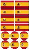 Haberdashery Online 28 Pegatinas de la Bandera de España. Stickers para Bicicletas, Motos, Accesorios (ESPAÑA)
