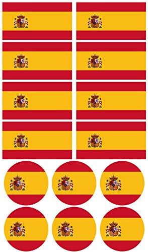 28 Pegatinas de la bandera de España. Stickers para bicicletas, motos, accesorios (ESPAÑA)