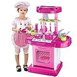 YLiansong-home Juego de Juguetes para niños en Juego de Roles 'My Little Chef'Miniature Kitchen Play Set con Accesorios Juguetes de Alimentos preescolares (Color : Pink, Size : One Size)