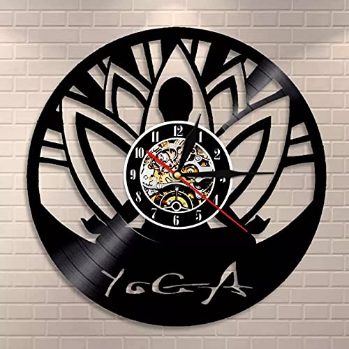 Reloj de pared con diseño moderno de Buda Zen Minimalista para yoga y yoga espiritual