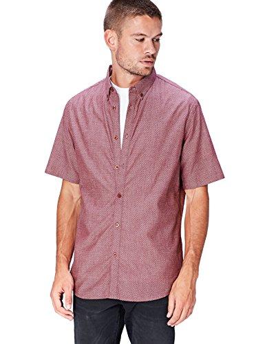 find. Camisa Estampada Hombre, Rosa (Dusty Pink), Large