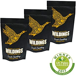 Wilding's Nutritious & Delicious Paleo Peking Flavour Duck Crackling Snack 3 x 25g:Amedama