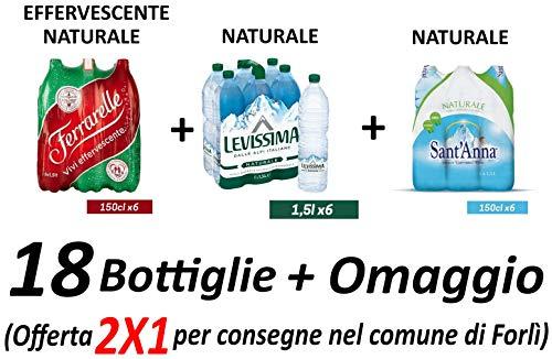 Acqua Ferrarelle 1,5 L più Acqua naturale Levissima 1,5 L più Acqua naturale Sant'Anna 1,5 L (Promozione Sales & Service)