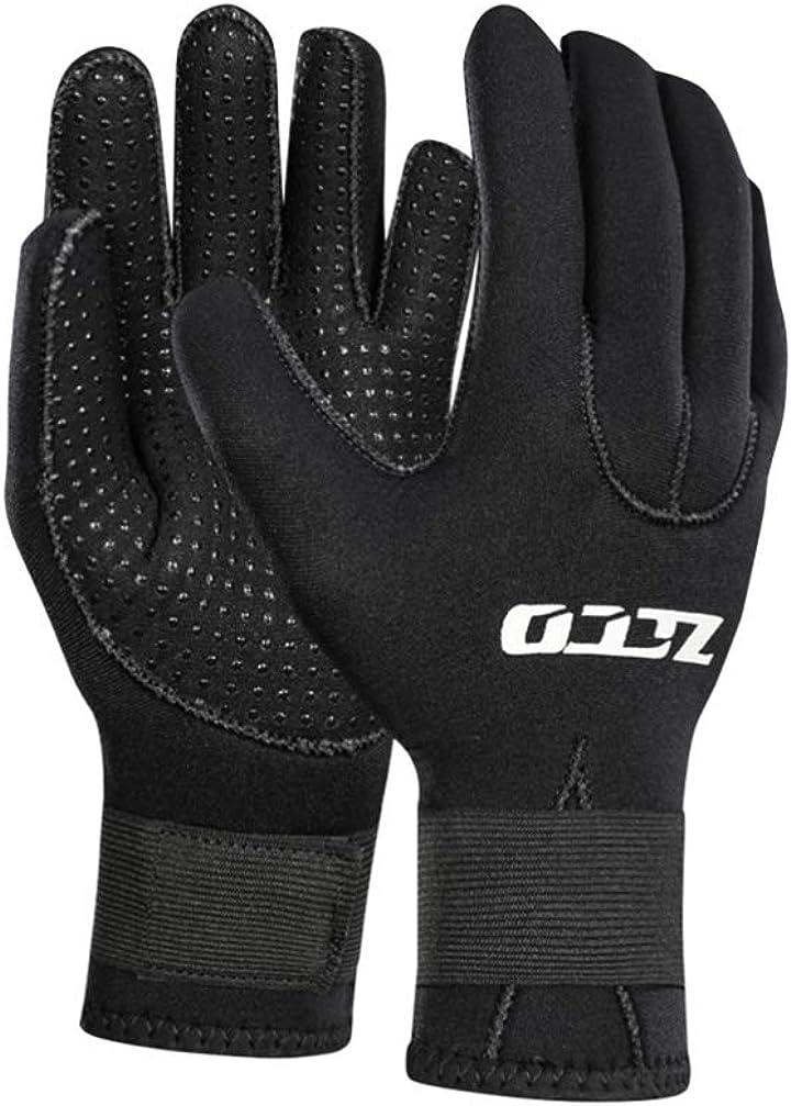 LIOOBO 3mm Winter Swimming Gloves Adjustable Diving Gloves Anti Slip Gloves for Unisex