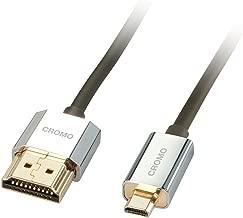 Lindy 41680 - Cable HDMI a Micro HDMI serie CROMO ultra flexible con Ethernet, 0.5m
