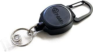 KEY-BAK Sidekick Retractable Key Chain & Badge Reel with Carabiner, Key Ring and Twist-Free Clear I.D. Badge Holder