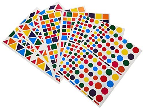 APLI Kids - Bolsa de gomets multicolor surtido, 6 hojas adhesivo removible