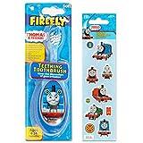 Thomas the Train Cepillo de dientes para bebé con pegatinas de recompensa – Cepillo de dientes para bebés