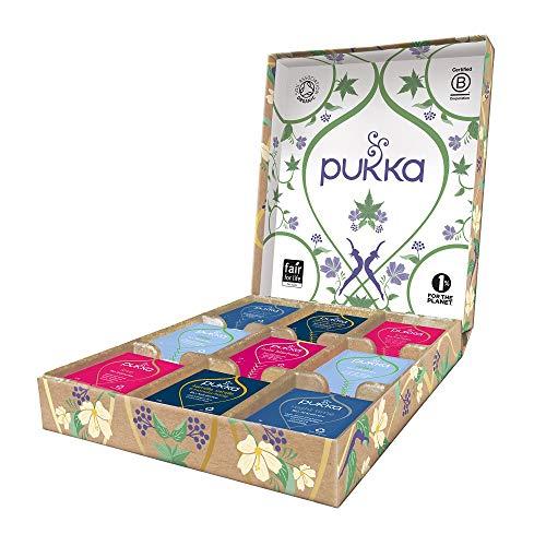 Pukka Relax Selection Geschenk Box, Kollektion ausgewählter Bio-Kräutertees (1 Box, 45 Bio-Teebeutel) 75 g, 45 Stück