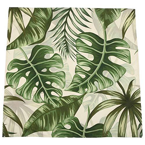 OVBBESS Manteles Impermeables de Lino con Estampado de Plantas Tropicales DecoracióN Decorativa para el Hogar Mantel Mantel 90X90Cm