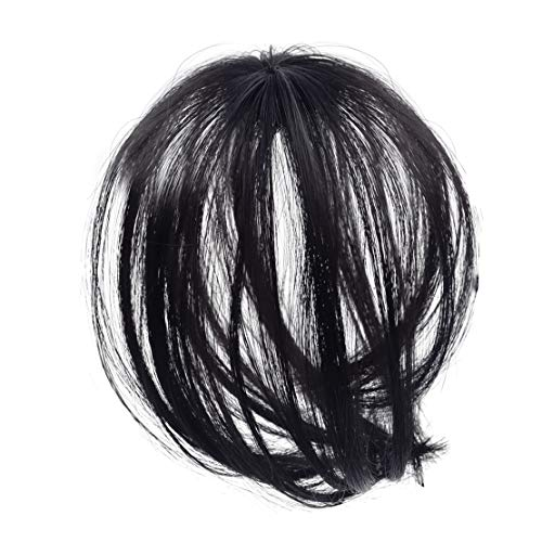 LETAOSK Noir Femmes 3D Mini Topper en Épingle À Cheveux Type Air Bangs Topper Perruques Pièce Cheveux Styling Accessoires