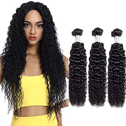 Human Hair Kinky Curly Weave Bundles Virgin And Unprocessed Remy Virgin Brazilian Kinky Curly Hair Weave For Black Women Natural Black Hair Bundle 12 14 16 Inch 3 Bundles