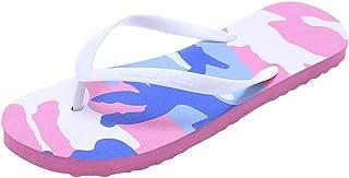 JUSTWIN Couple Camouflage Casual Non-Slip Beach Shoes Leisure Anti-Slip Open Peep Toe Beach Flip Flops