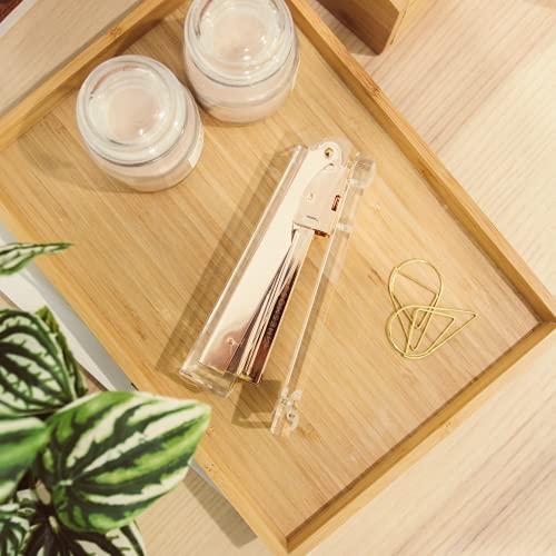 Gold Stapler for Desk - Cute Stapler for Office - Clear Acrylic Stapler - Desktop Designer Stapler - Elegant Desk Accessory, Trendy Novalty Stapler - Pretty Office Space - Lucite, Large Office Stapler Photo #8