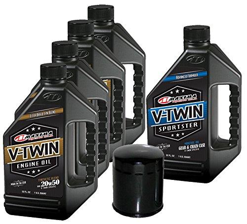 MaximaHiflofiltro VTTOCK19 Complete Engine Oil Change Kit for V-Twin Synthetic Blend Harley Davidson Sportster, 5 Quart