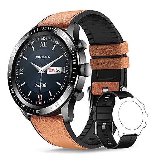 TagoBee Smartwatch Hombre,Reloj Inteligente Hombre Mujer con 1.3' Táctil Completa, Pulsómetro Presión Arterial Monitor de Sueño IP67 Impermeable Podómetro Relojes Inteligentes Hombre para Android iOS
