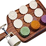 75g 6pcs Cookie Stamps Moon Cake Mold Set, DIY Cookie Press Mid Autumn Festival Decor Cake Cutter Mold