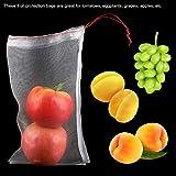 Cordon de serrage sac en maille sacs de Protection des fruits outils de jardinage sacs de fruits de jardin stockage d'épicerie alimentaire réutilisable pour fruits légumes(25 * 15cm)